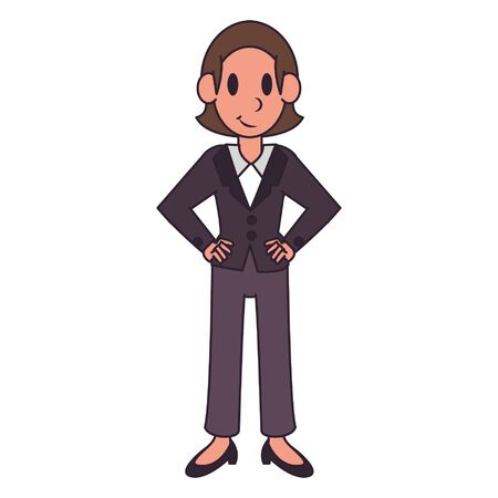 Businesswoman smiling character  worker cartoon vector illustration graphic design