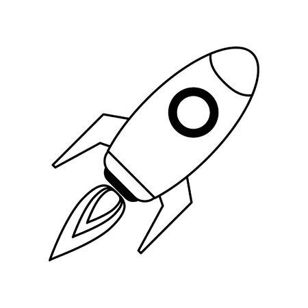 Rocket spaceship taking off symbol vector illustration graphic design Imagens - 124558374