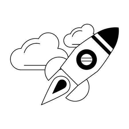 rocket icon cartoon isolated vector illustration graphic design Ilustração
