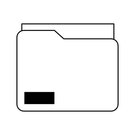 documents folder icon cartoon vector illustration graphic design black and white