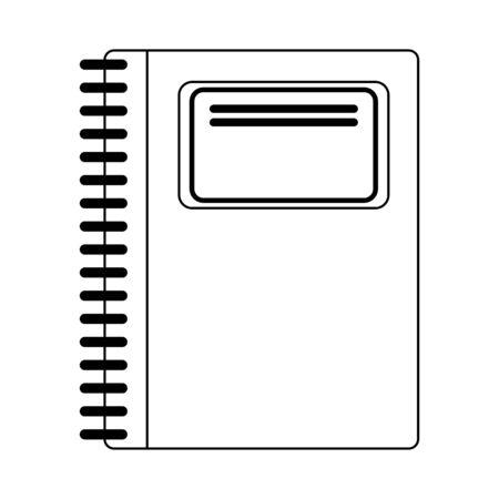 School notebook utensil isolated Design Иллюстрация