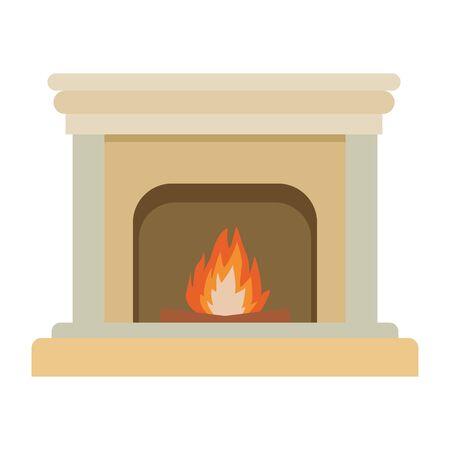 classic fireplace icon isolated vector illustration graphic design Foto de archivo - 124654111