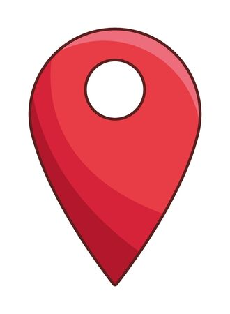gps location point cartoon vector illustration graphic design