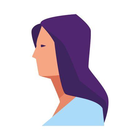 woman avatar cartoon character portrait vector illustration graphic design Иллюстрация