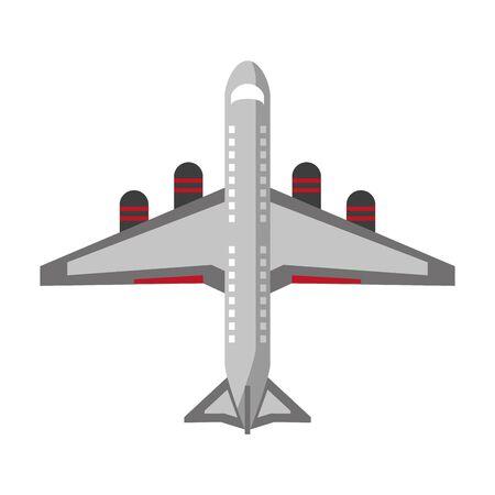 Progettazione grafica dell'illustrazione di vettore di simbolo di topview degli aerei dell'aeroplano del jet Vettoriali