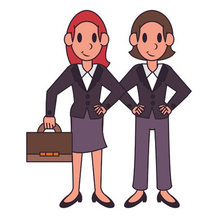 Professional workers lawyers characters cartoons vector illustration graphic design