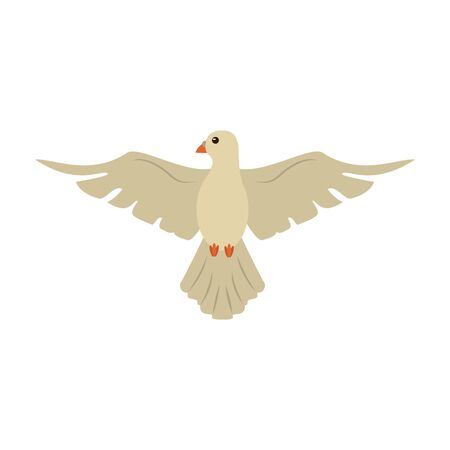 Dove peace bird cartoon vector illustration graphic design Illustration