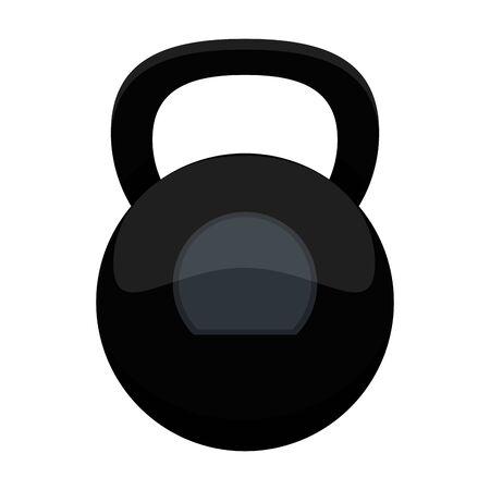 Fitness kettlebell symbol isolated vector illustration graphic design