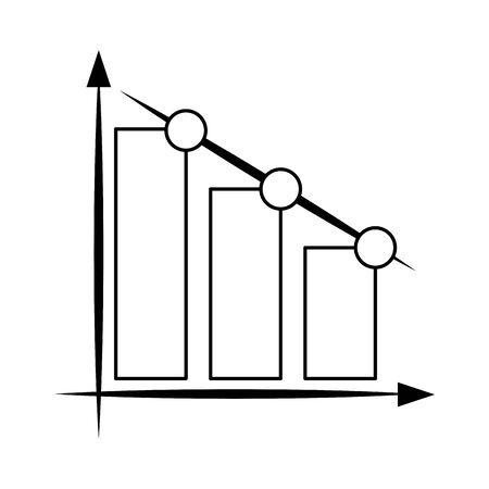 Statistics bars growing isolated symbol vector illustration graphic design