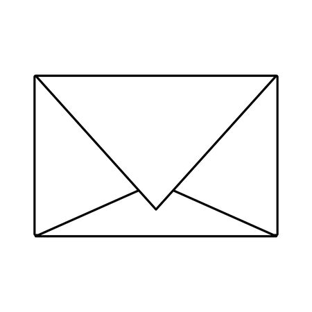 Email envelope symbol isolated vector illustration graphic design