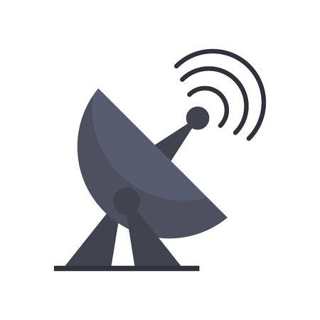 Telecommunication antenna technology device vector illustration graphic design Ilustrace