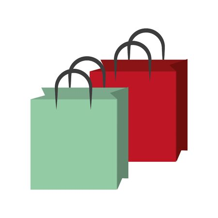 shopping bags cartoon vector illustration graphic design Ilustrace