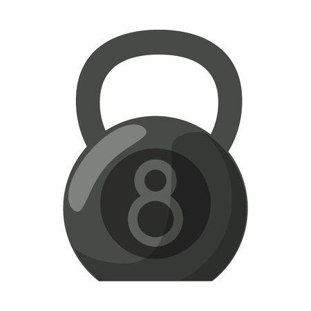Kettlebell gym equipment isolated for do exercise