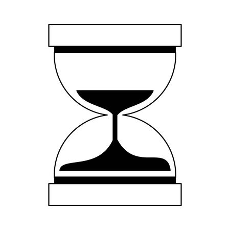 Hourglass antique timer symbol vector illustration graphic design