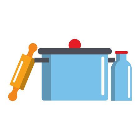 Kitchen utensils and supplies cartoons vector illustration graphic design Ilustrace