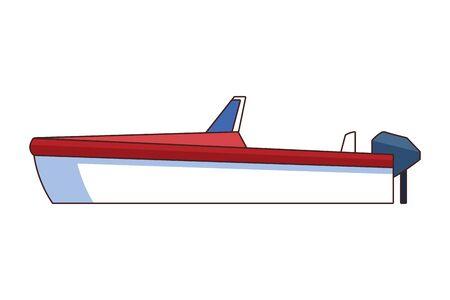 boat icon cartoon isolated vector illustration graphic design