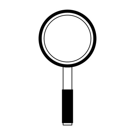 Magnifying glass symbol isolated cartoon vector illustration graphic design