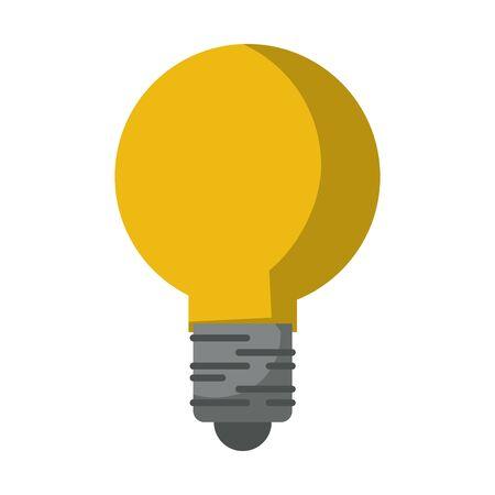 Bulb light idea symbol isolated vector illustration graphic design