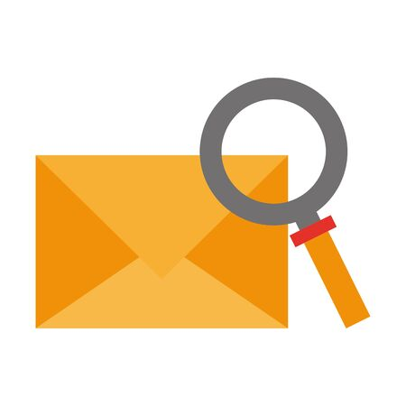 Email and magnifying glass symbol vector illustration graphic design Иллюстрация