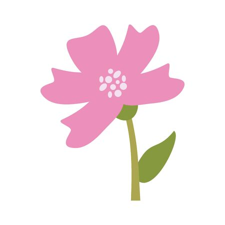 Beautiful flower cartoon isolated