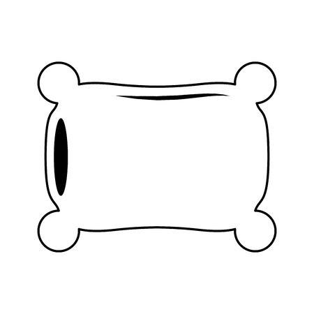 Pillow rest cartoon isolated vector illustration graphic design Ilustração