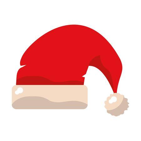 Santa claus hat cartoon isolated vector illustration graphic design