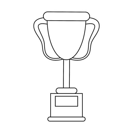 Trophy cup championship isolated vector illustration graphic design