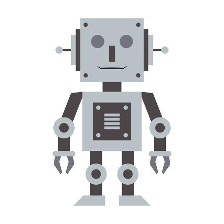 Robot toy technology cartoon vector illustration graphic design