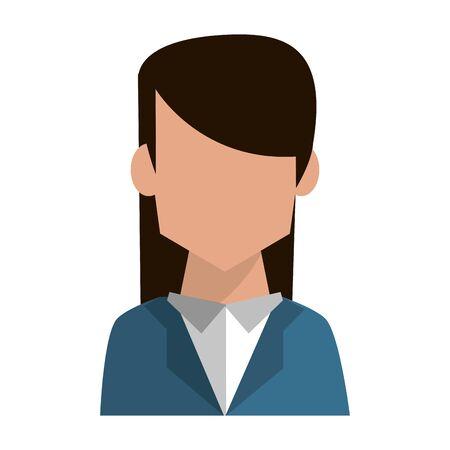 Businesswoman profile faceless avatar vector illustration graphic design Ilustrace