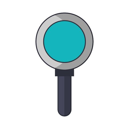 magnifying glass cartoon vector illustration graphic design Иллюстрация