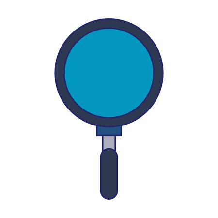 Magnifying glass search online isolated vector illustration graphic design Иллюстрация