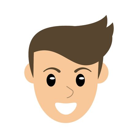 Man smiling face cartoon isolated vector illustration graphic design
