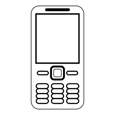 Cellphone communication device isolated Design Çizim