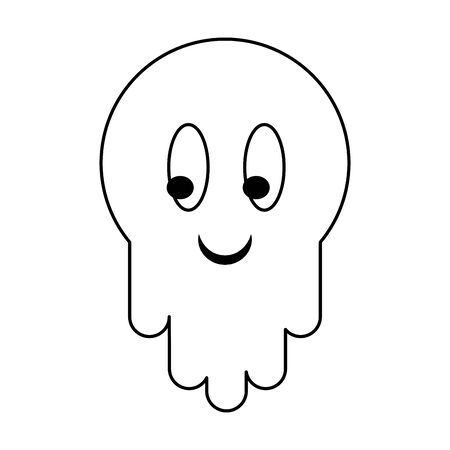 Videogame enemy ghost character isolated vector illustration graphic design Ilustração