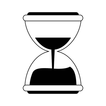 Hourglass antique time symbol vector illustration graphic design