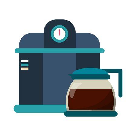Coffee espresso machine and glass kettle vector illustration graphic design