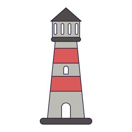 Beach lighthouse symbol cartoon vector illustration graphic design vector illustration graphic design Illustration