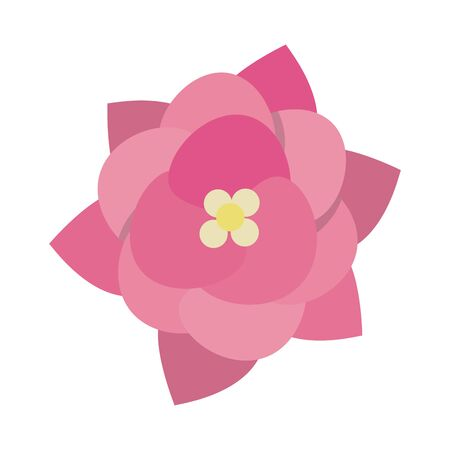 Flower beautiful cartoon isolated vector illustration graphic design Ilustrace
