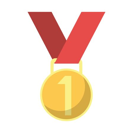 First place medal award symbol vector illustration graphic design Ilustrace