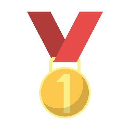 First place medal award symbol vector illustration graphic design Reklamní fotografie - 124718604