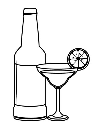 alcoholic drinks beverages cartoon vector illustration graphic design