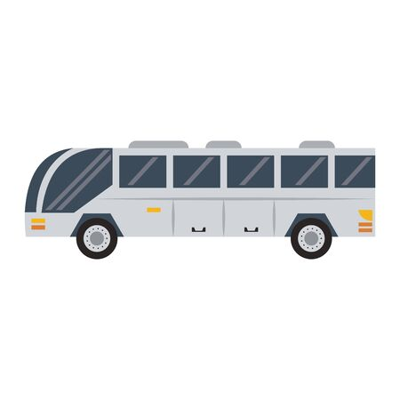 Public bus vehicle sideview vector illustration graphic design Illustration