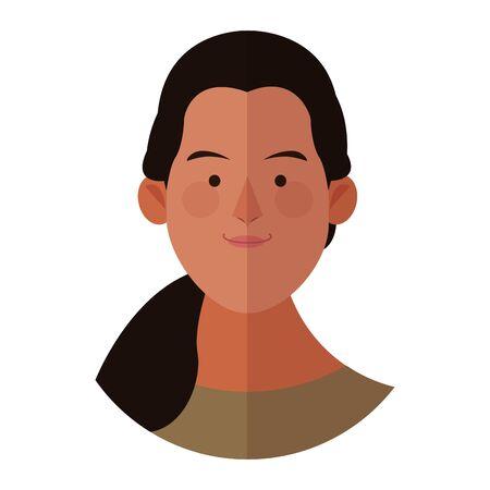 Woman face cartoon profile vector illustration graphic design Иллюстрация