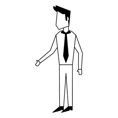 Executive businessman avatar isolated vector illustration graphic design
