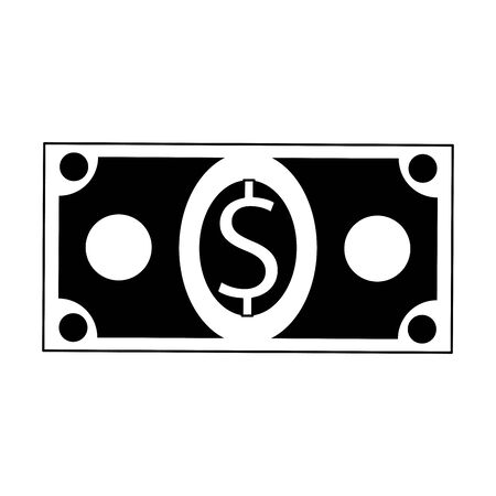 Cash money symbol isolated cartoon vector illustration graphic design