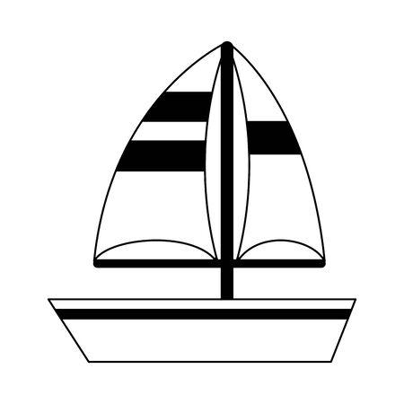 Sailboat ship symbol cartoon vector illustration graphic design