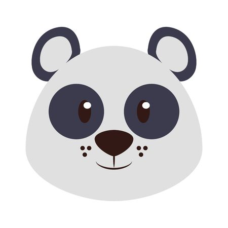 Panda head wildlife cute animal cartoon isolated vector illustration graphic design Ilustracja
