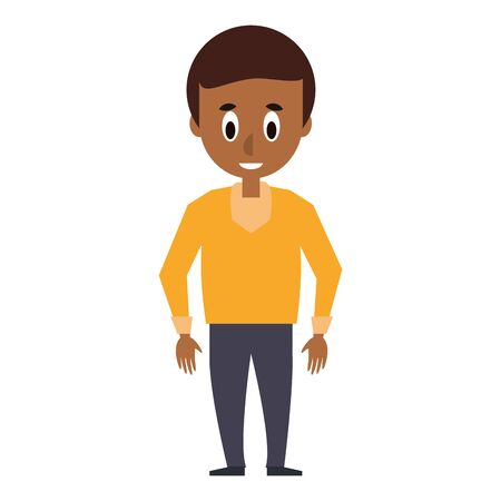 young man with casual clothes cartoon vector illustration graphic design