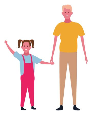 Family father with daughter vector illustration graphic design