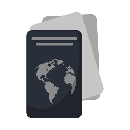 Passport with tickets symbol vector illustration graphic design